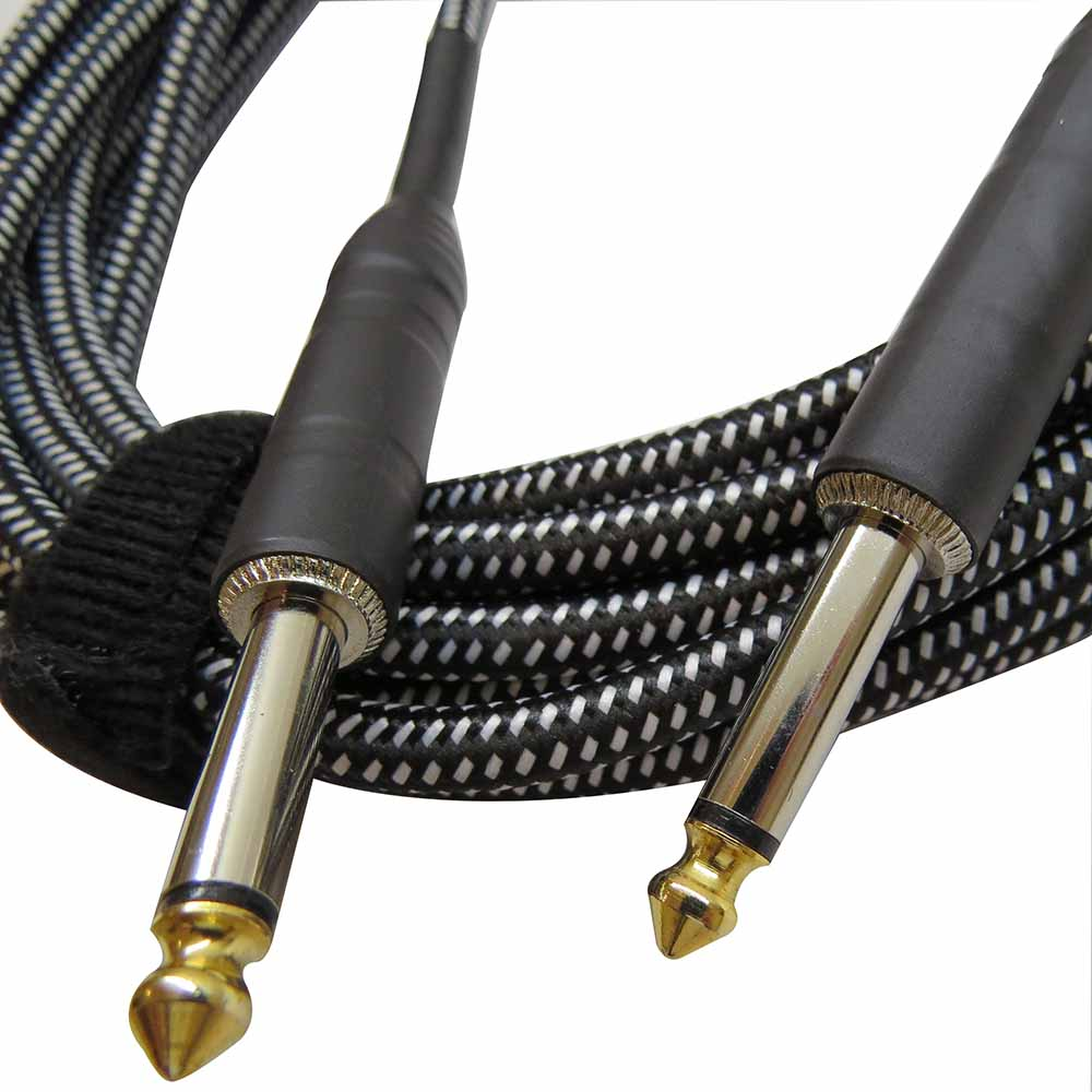 20ft Braided Guitar Cable - Black & White - Soundz Like Music